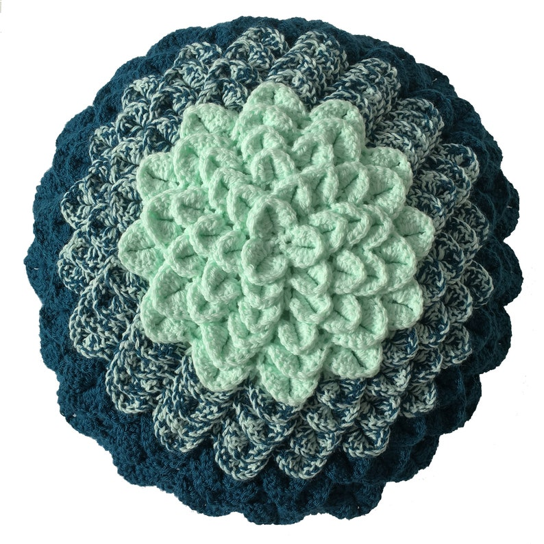 Crocheted Succulent Cushion  PDF PATTERN image 0