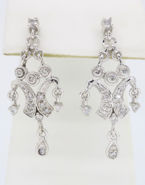 Chandelier Style Diamond Earrings