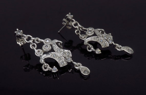 Chandelier Style Diamond Earrings - image 5
