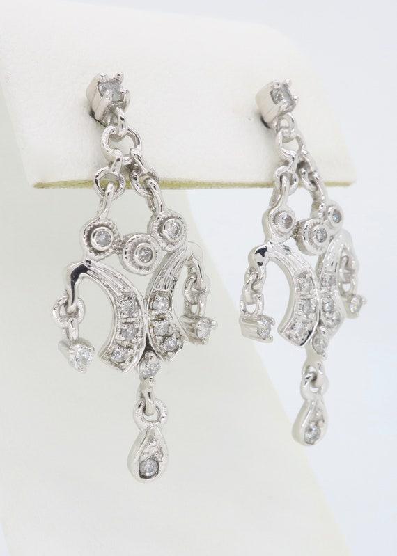 Chandelier Style Diamond Earrings - image 4