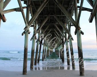 Photograph, Instant Digital Download, Surf City / Topsail Island NC Pier, Photo Art, Wall Decor, JPEG file