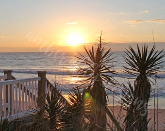 Photograph, Instant Digital Download, Topsail Island NC Oceanfront Sunrise, Photo Art, Wall Decor, JPEG file