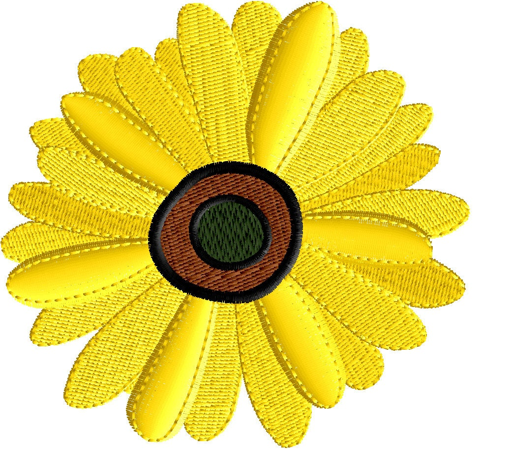 Daisy embroidery design flower embroidery embroidery design etsy zoom izmirmasajfo