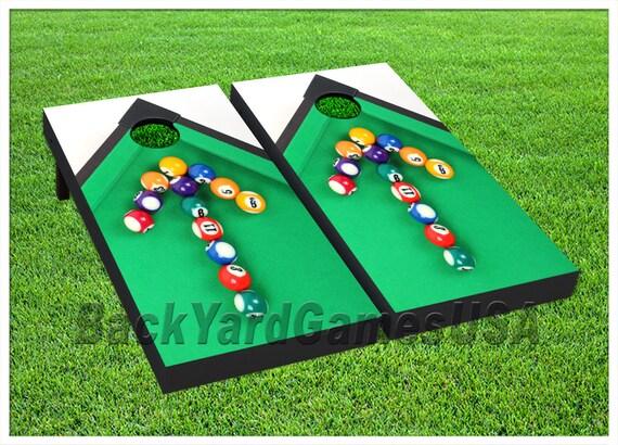 VINYL WRAPS Cornhole Board DECALS Pool Billiard Bag Toss Game Etsy - Pool table wraps