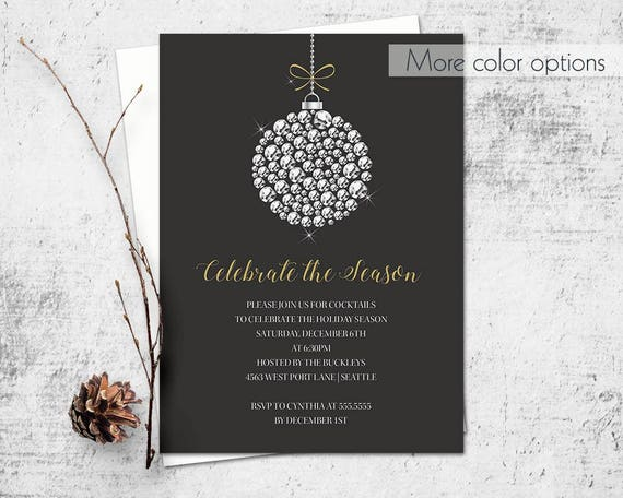 holiday party invitation template corporate business