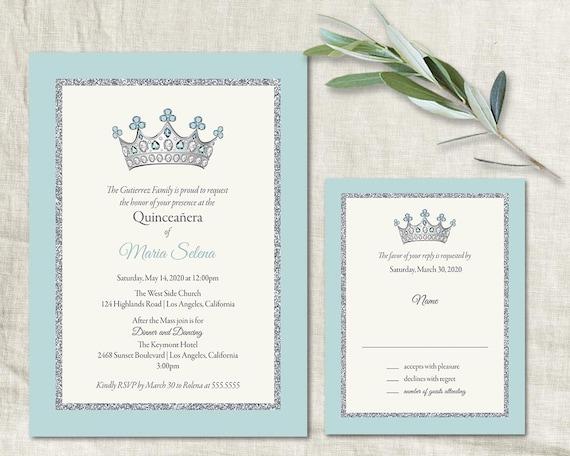 quinceañera invitation template diy printable 15 birthday etsy