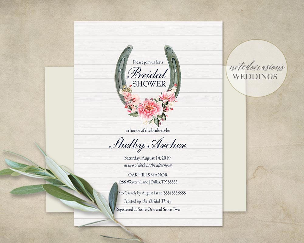 Bridal Shower Invitation Template Printable Western Bridal | Etsy
