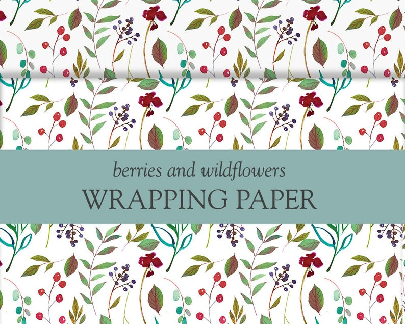 Floral Birthday Wrapping Paper Gift Wrap