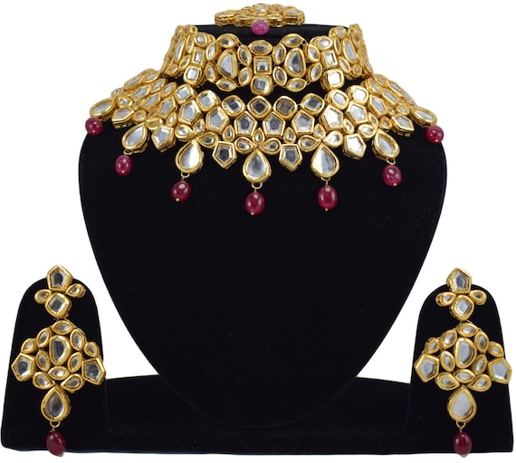 Choker Jewelry Indian Bollywood Ruby Bridal Jewelry Wedding Etsy