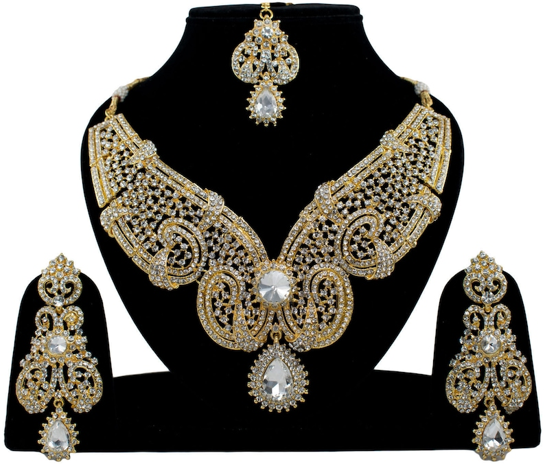 6fdfa6a705a869 Fancy indian Jewellery Costume Bridal Gold Plated Engaement   Etsy