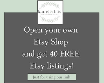 40 FREE Etsy listings just for using our link- Because your friends just happen to be the most creative people ever, link in description!