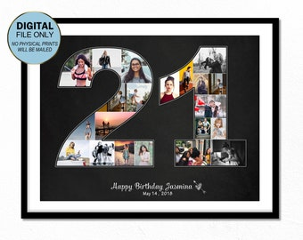 21 Twenty First Birthday Gift For He 21st Him Collage