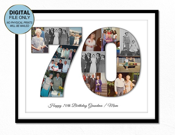 70er Jahre Siebzig Geburtstagsgeschenk Für Oma 70er Jahre Siebzig Geschenk Ideen Geschenk Für Mutter Geschenk 70 70 Geburtstag Foto Collage