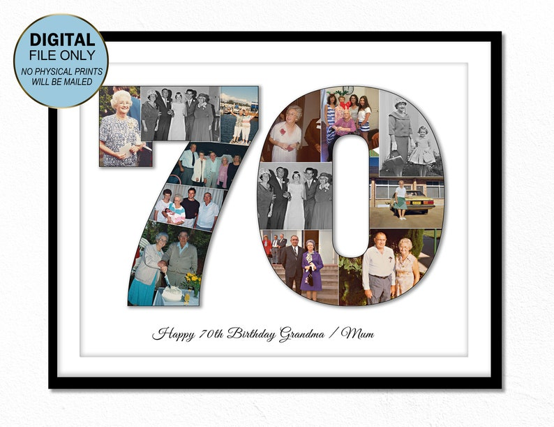 70th Seventy Birthday Gift For Grandma Ideas