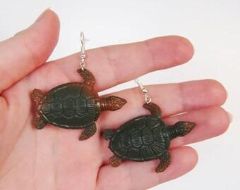 Sea Turtle - Sea Creature Earrings