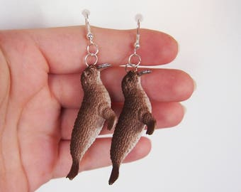 Walrus - Sea Creature Earrings