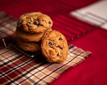 Old-Fashioned DARK Chocolate Chip Cookies (by the dozen)