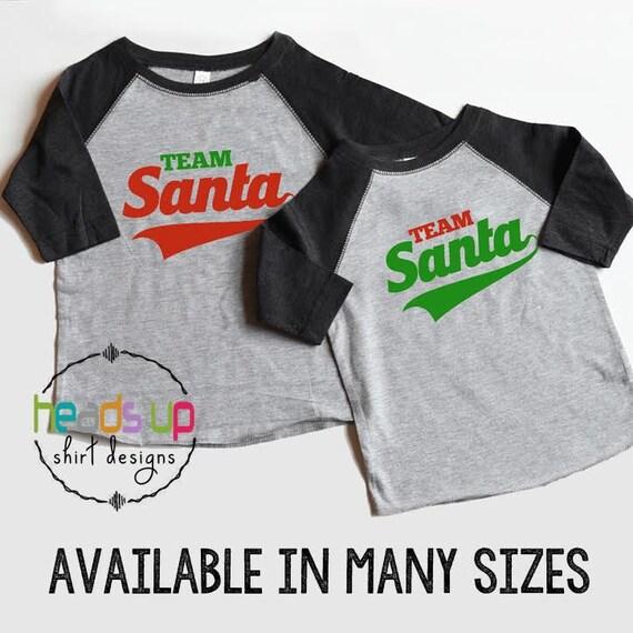 613308f781 Twin Christmas Shirts Boy Girl Christmas Raglan Tees Twins