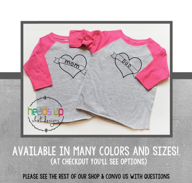 a6387b0a Twin Girl Tees Mom and Dad Heart Twin Baby Bodysuit I Love | Etsy