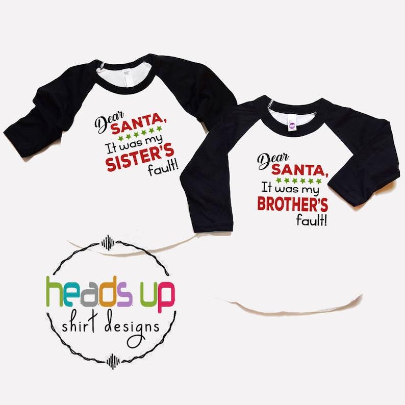 b77d847c9e82 Christmas Sibling Shirts Boy/Girl Twin Christmas Tees Boy | Etsy