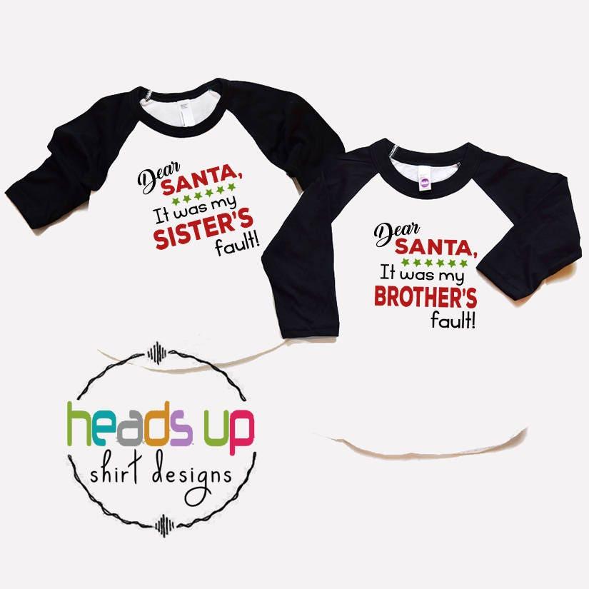 Weihnachten Geschwister Shirts junge/Mädchen | Etsy
