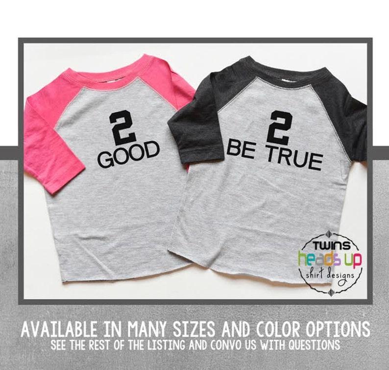 Twin Boy Girl 2nd Birthday Shirts Second Bday Tees 2