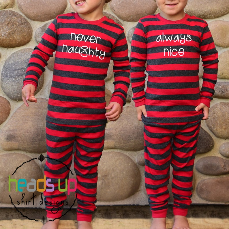 7d08353c60 Twin Christmas Pajamas Boy or Girl Sibling Matching