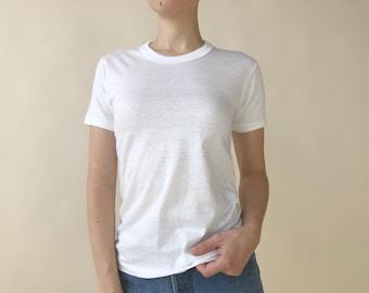 23a4099aebdb2f Vintage 60s Hanes Plain White T-Shirt