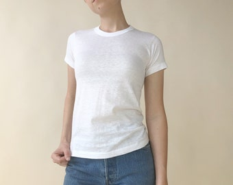 ddf2bd9b39bebd Vintage 70s Hanes Plain White T-Shirt