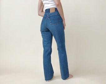 60de7473 Vintage Levis Size 2 / 26 | 70s 80s Levi 501 Shrink To Fit | Cropped Medium  Blue Jeans USA Cotton Denim | 26 Inch Waist