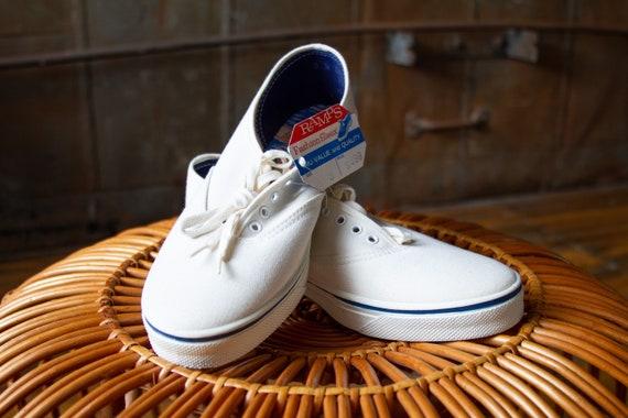 60s Sun'N'Surf Deadstock White Canvas Deck Shoes |