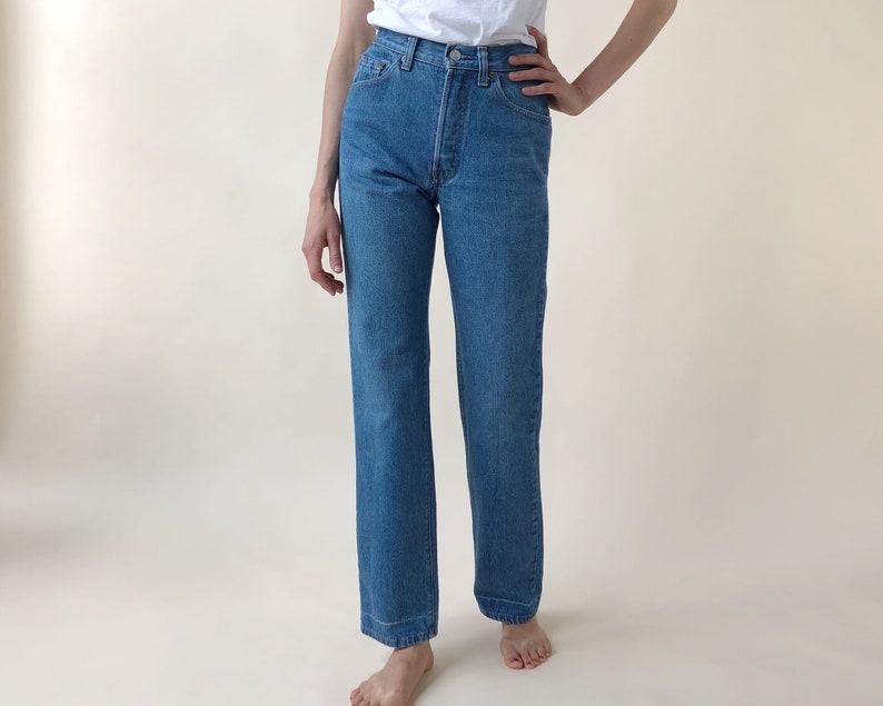 5b60bd0d20d Vintage Levis Size 4 / 27 80s Levi 501 Shrink To Fit Curvy | Etsy