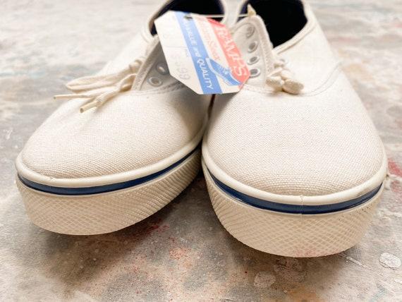 60s Sun'N'Surf Deadstock White Canvas Deck Shoes … - image 6