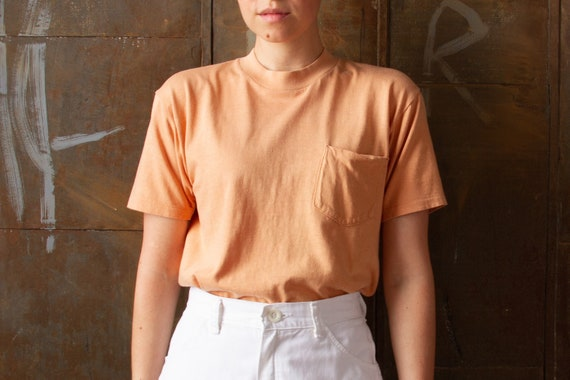 70s Jockey Sun Faded Sherbet Pocket Tee | Women's
