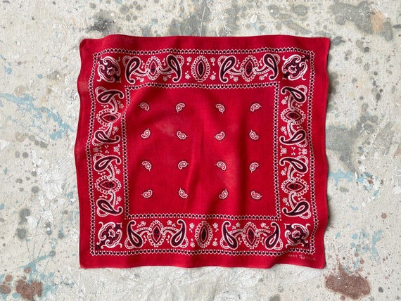 30s 40s Vintage Cotton Bandana | Elephant Trunk Do
