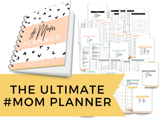 45 Page Ultimate Mom Planner  Instant Download Printable