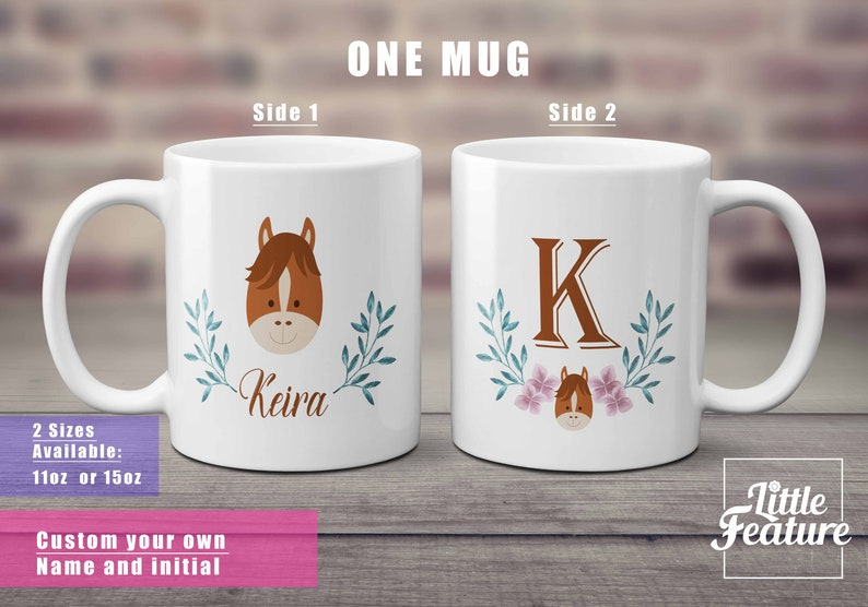 fe28e445e6314 monogrammed mugs for niece birthday / horse gifts for women / personalized  horse gift for stepdaughter / mommy gifts horse mug / large mug