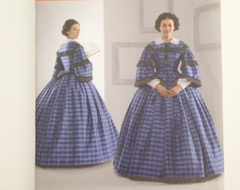 Civil War Era Gone with the Wind Womens Dress Costume Sewing Pattern No. 3727 New 8,10,12,14