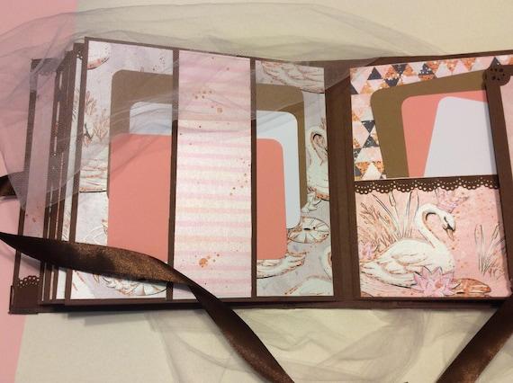 Album Album Album photo mariage, album de scrapbooking mariage, cadeau de mariage, cadeau pour maman, cadeau pour le couple, Album avec des cygnes, livre de souvenir de mariage, a021a7