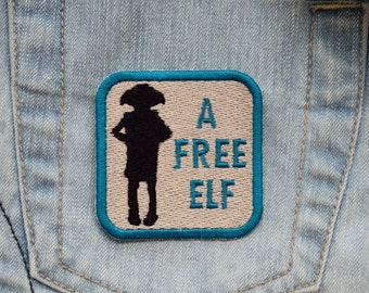 House Elf, A Free Elf Iron-on OR Hook Fastener Backed Embroidered Patch