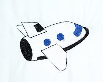 Instant Download: Space Shuttle, Space Ship, Astronaut Machine Embroidery Design 6 sizes