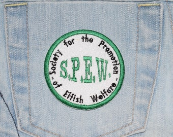 S.P.E.W. House Elf Welfare, Elf Rights, inspired Iron-on Embroidered Patch