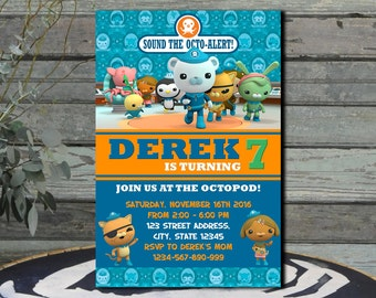 Octonauts Birthday Invitation Octonauts Invitation Octonauts