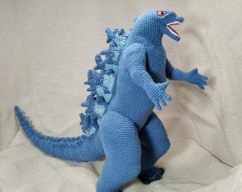 Crochet Giant Godzilla _ Godzilla Monsterverse _ PDF English crochet pattern of Godzilla