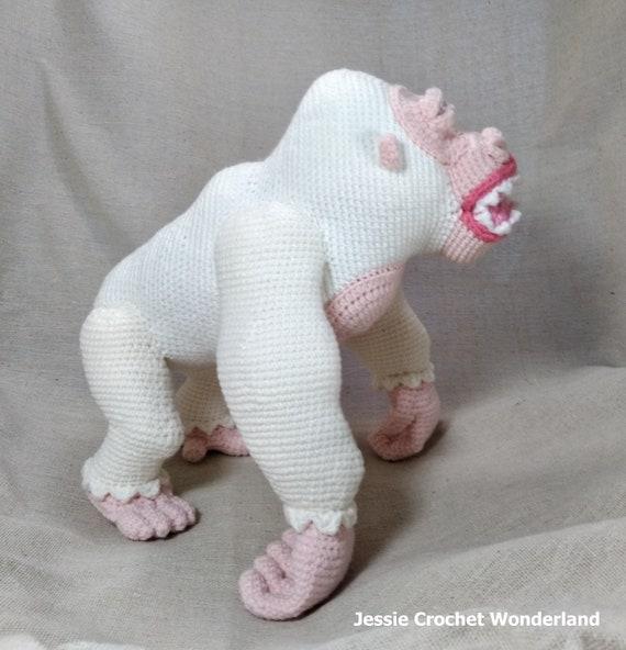 Crochet King Kong Gorilla Gorilla George Rampage English Etsy