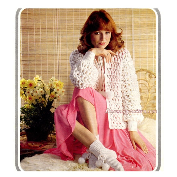 Vintage Bed Jacket And Bed Socks Knitting Patterns In Pdf Etsy