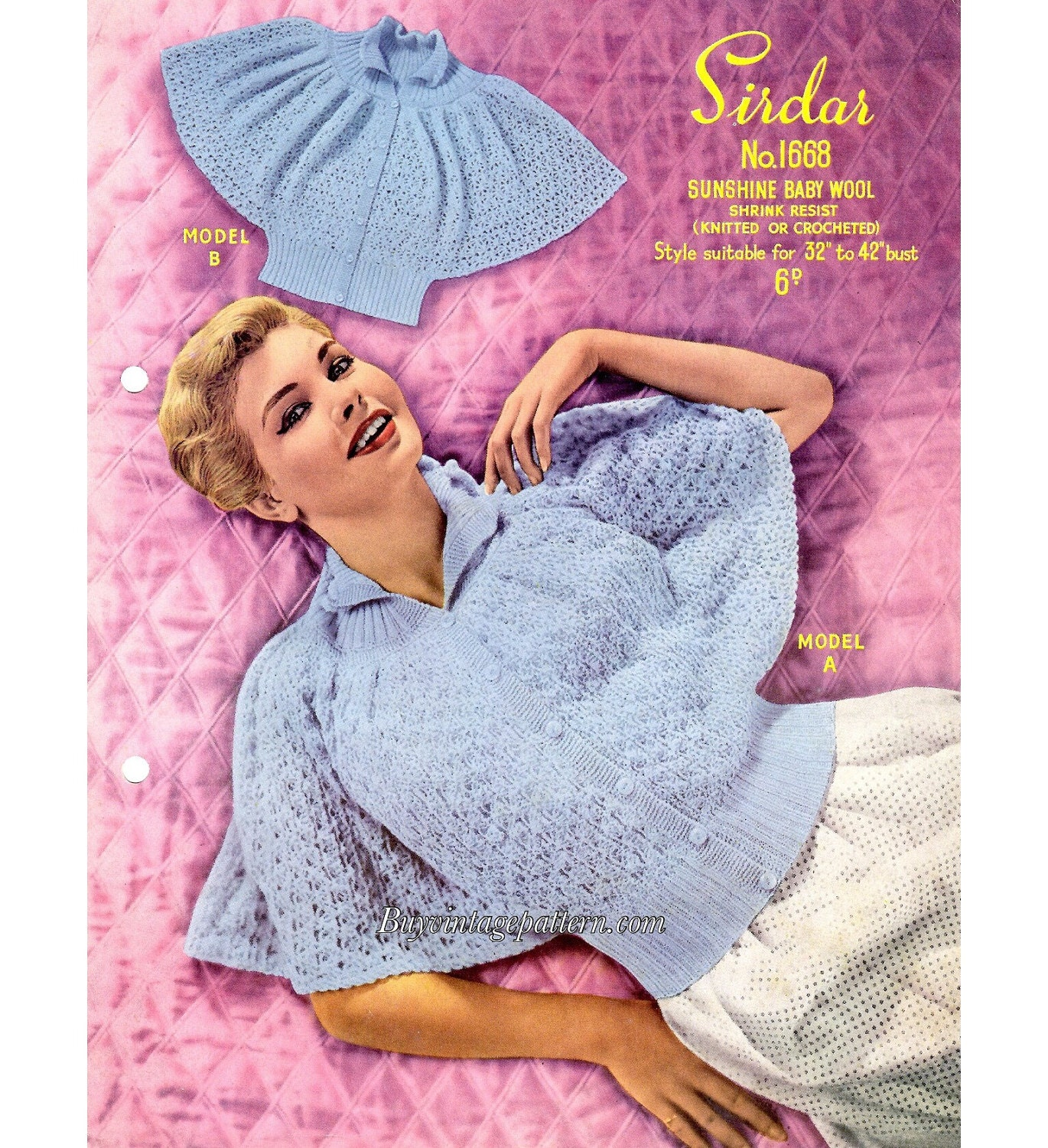 Vintage Bed Jackets Knitting And Crochet Patterns In Pdf Etsy