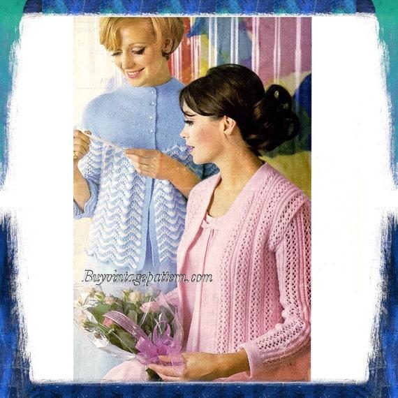 Vintage Bed Jackets Knitting Pattern In Pdf Instant Download Etsy
