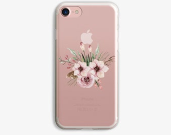 Pink Floral Bunch Tulips Flowers iPhone 7 Plus Case iPhone 6 Case Flower iPhone 7 Case iPhone 6 Plus Case 5s 5
