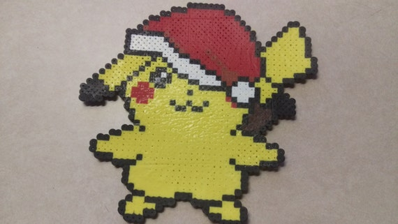 Items Similar To Christmas Pikachu Pixel Art On Etsy